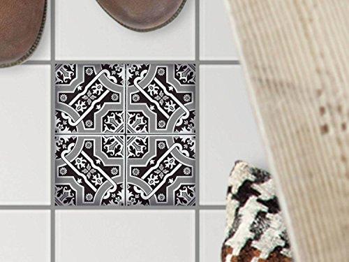 Auto-adhsif-dcoratif-carreau-sol-Mosaque-revtement-de-sol-Personnaliser-toilette-Design-Black-n-White-10x10-cm-1-pice-1x1