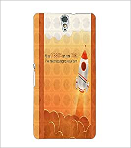 PrintDhaba Quote D-3317 Back Case Cover for SONY XPERIA C5 ULTRA (Multi-Coloured)