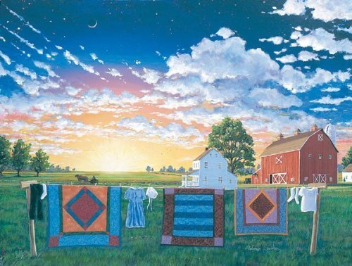 Amish Quilts 500pc Jigsaw Puzzle by Rebecca Barker