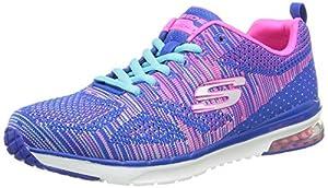 Skechers Skech Air Infinity Memory Foam, Chaussures de Fitness femme, Bleu (Blue/Hot Pink), 38 EU (5 UK)