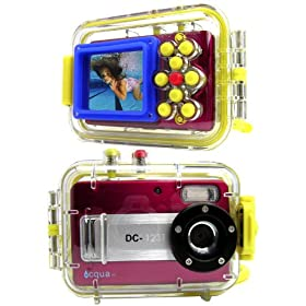 Acqua DC-1231 Red (with 4GB)12MP Max. Digital Still Camera with waterproof case