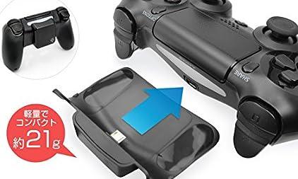 スペックコンピュータ 置きらく充電 レシーバー for PS4 Qi ワイヤレス 充電 SP1578 ブラック