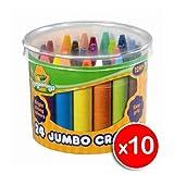 Crayola Beginnings 24 Jumbo Crayons - x10