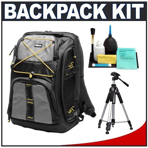Nikon Digital SLR Camera & Laptop Backpack + Tripod + Cleaning Kit for D40, D60, D3000, D3100, D5000, D5100, D7000, D300s, D3 & D3s