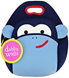 Dabbawalla Bags Monkey Kid's Insulated Washable & Eco-Friendly Lunch Bag Tote Blue