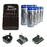 Ex-Pro Ultra Fast Battery Charger with 8x AA 2900mAh High Power Rechargeable Batteries