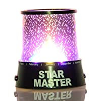 LED Star Night Light Projector Lamp, Bed Side Lamp, Colorful Starry Night from Generic