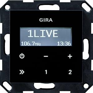 Gira 228405 Unterputz Radio RDS ohne Lautsprecher System 55, schwarzglasoptik  BaumarktRezension