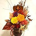 ハロウィン 秋のプリザーブドフラワーアレンジ≪オータム ≫  【ハロウィン】【秋】
