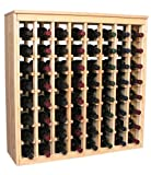 Wooden 64 Wine Bottle Deluxe Cabinet Style Wine Rack Storage Kit in Premium Redwood