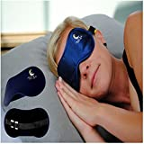Sleep Mask with Ear Plugs - Best Eye Mask for Sleeping - Business Travel - Shift Work Disorder - Resting At Home - Assists with Insomnia and Other Sleep Disorders - Total Light Blocking Construction - Great Sleep Aid for Children Who Need Help Sleeping - Crafted for Durability & Comfort - Extremely Light - Adjustable Velcro Strap with Earplug Slots Attached - Ironclad Guarantee of Satisfaction