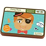 Mudpuppy Funny Faces Magnetic Design Set Multi