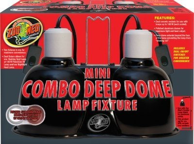Combo Deep Dome Dual Lamp Fixture by ZOO MED/AQUATROL (Zoo Med Aquatrol Inc compare prices)