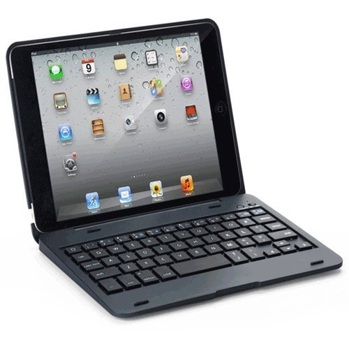 """Everstar® Ipad Mini Clamshell Laptop Style Bluetooth Keyboard Case For Apple Ipad Mini / Ipad 7.9 Inch. Turn Your Tablet Into A 7"""" Laptop Style. (Navy)"""