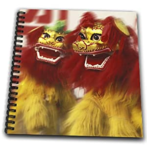 db_72594_1 Danita Delimont - Holidays - Holiday, Lion Dance performance, Chinese New Year, China-AS07 KSU1149 - Keren Su - Drawing Book - Drawing Book 8 x 8 inch