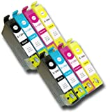The Ink Squid 2 Sets Of T1291 T1292 T1293 T1294 (T1295 'Apple') High Capacity Compatible Ink Cartridges For Epson Workforce Wf7525 Printer