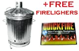 90 Litre Garden Incinerator/ burn rubbish, leaves FREE FIRELIGHTERS (Made In The U.K)
