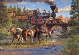 Iron Horses and Indian Ponies a 500-Piece Jigsaw Puzzle by Sunsout Inc.