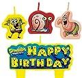 SpongeBob Squar Pants Birthday Cake Candle Set Party Supplies