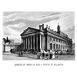 Grabado antiguo (1869) - Grabado al acero - Grandezas De Londres.- La Bolsa Y Estatua De Wellington (10x15), Desconocido...