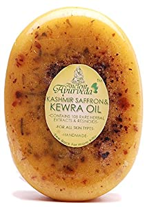 Ancient Ayurveda Kashmir Saffron & Kewra Oil Luxury Soap Pack Of 3