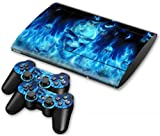 NuoYa001 Skin Sticker For PS3 PlayStation Super Slim 4000 Console+2 Controllers Decal 45