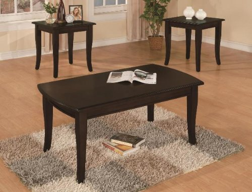 Brand New 3-pk Fremont Coffee Table and End Tables Cocktail set espresso finish