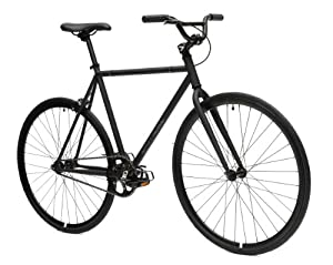 Critical Cycles Fixed Gear Single Speed Fixie Urban Road Bike (Matte Black, Large)