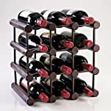 Modular 12 Bottle Wine Rack -Mahogany, Wine accessories