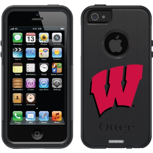 Special Sale University of Wisconsin W design on a Black OtterBox® Commuter Series® Case for iPhone 5s / 5