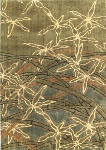 Dancing Bamboo Rug - Sage (5'5