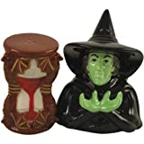 Westland Giftware The Wizard of Oz Wicked Witch and Hour Glass 3-1/2-Inch Magnetic Salt and Pepper Shakers