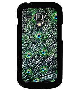 printtech Peacock Feathers Back Case Cover for Samsung Galaxy S Duos 2 S7582