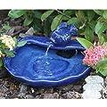 Smart Solar 21372R01 Ceramic Solar Koi Fountain, Blue Glazed Finish by Smart Solar