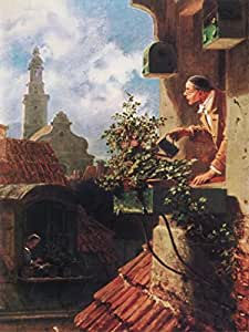 Amazon.com - Posters: Carl Spitzweg Poster Art Print - The Garret