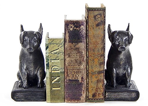 Flying Pig Bookends, Amazing Sweet Pig Book Ends (Chef Pig Statue compare prices)