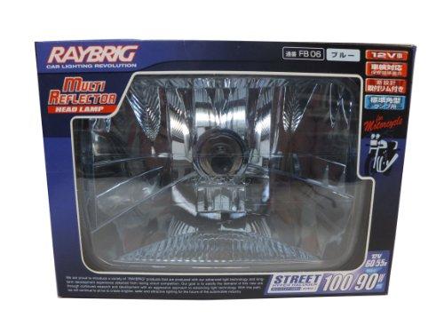 RAYBRIG [レイブリック] 2輪車用ヘッドランプ [角型] ブルー [1個入り] FB06