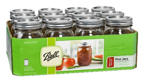 Ball Mason 16-Ounce Canning Jars with Lids and Bands (Set of 12)
