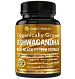Organic Ashwagandha Root Powder 1200mg - 120 Veggie Capsules - Ashwaganda Supplement – Black Pepper Extract For Increased Absorption