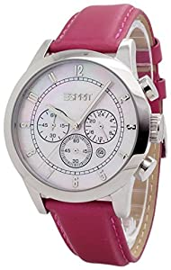 Esprit Damen-Armbanduhr Rotunda Chronograph Quarz Leder ES000ER1009