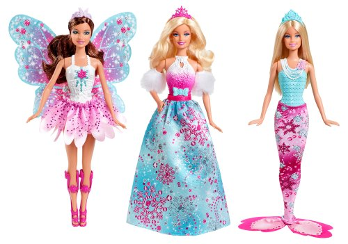Barbie Fairytale Royal Doll Giftset, 3-Pack front-971589
