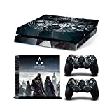 Sony PlayStation 4 Skin Decal Sticker Set - Jacob Frye and Evie Frye of Assassin's Creed Syndicate (2 Controller Stickers + 1 Console Sticker)
