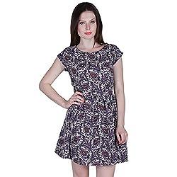 PRAKUM Women's Chiffon Regular Fit Dress Multicolor (X-Large)
