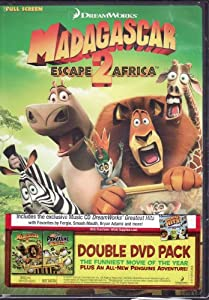 Madagascar 2 Escape To Africa DVD LIMITED EDITION 3 DISC SET Includes: Madgascar Escape To Africa DVD, The Penguins of Madagascar DVD, & Music CD Dreamworks' Greatest Hits Featuring Fergie, Smash Mouth, Bryan Adams, The Archies, Boys II Men, Reel 2 Reel, Rose Royce & The Archies
