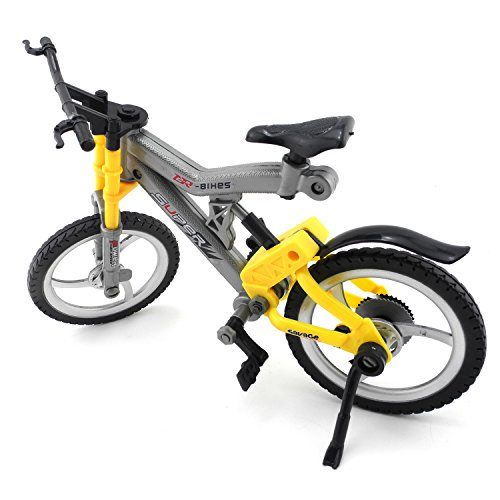 iNewcow Simulation Pretend Bicycle Children Educational DIY Bike Toys For Your Kids (Grey&Yellow 29*11*18CM) - 1