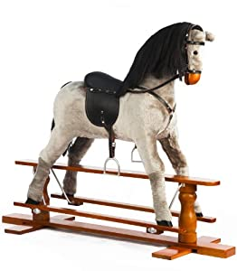 Large Grey Rocking Horse Misty - by The 1 for U