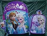 Disney Frozen Large Backpack with Elsa Frozen Lunch Box