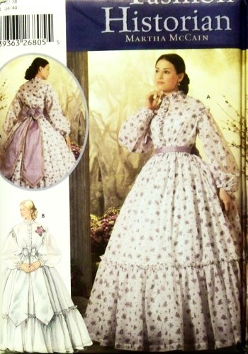 OOP, Rare Simplicity Fashion Historian Pattern 5442. Misses Szs 6;8;10;12 Civil War Day Gown or Dress. Costume