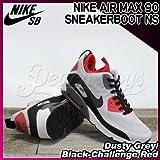 NIKE(ナイキ) エアマックス 90 スニーカーブーツ AIR MAX 90 SNEAKERBOOT NS Dusty Grey/Black-Challenge Red/メンズ(men's) 靴 スニーカー(616314-006)