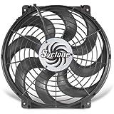"Flex-a-lite 398 Syclone Black 16"" S-Blade Reversible Electric Fan"